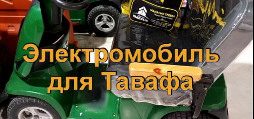 Электромобиль для Тавафа